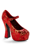 Rocks, Paper, Sizzle Heel - Red, Prom, Wedding, Party, 70s, Fall, Winter, Rockabilly, Pinup, Vintage Inspired