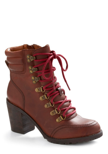 Route Sixty-Kicks Boot by Lucky - Brown, Solid, Casual, Fall, Winter