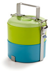 Delectable Duo Tiffin Box - Green, Blue, Work, Casual