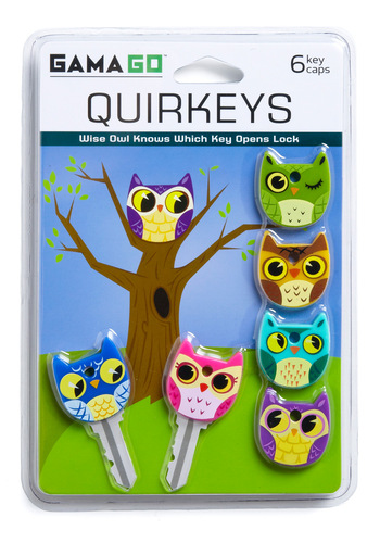 Apt Owl Key Caps by Gama-Go - Multi, Owls, Quirky