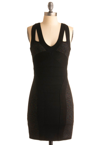 Check My Moves Dress - Black, Solid, Cutout, Sheath / Shift, Sleeveless, Party, Show On Featured Sale, Short