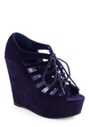 Discotheque Diva Wedge - Purple, Solid, Cutout, Party, Summer, Fall, Wedge