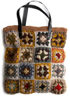 Primrose Patch Bag - Tan, Multi, Floral, Crochet, Casual, 70s, 80s, Fall, Winter, Boho