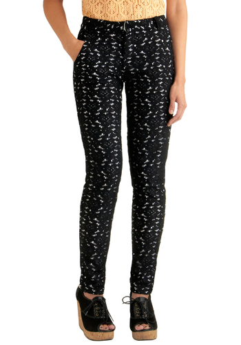 You're So Smarty Pants - Black, Floral, Lace, Party, Fall, White, Long