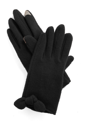 In Touch Gloves in Black - Black, Solid, Work, Casual, Fall, Winter