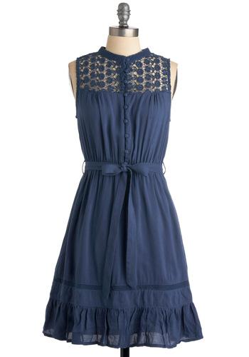 Mount San Jacinto Dress in Blue