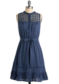 Mount San Jacinto Dress in Blue