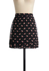 See You at the Show Skirt by Tulle Clothing - Black, Pink, Floral, Red, White, Polka Dots, Casual, Fall, Winter, Mini, Print, Short