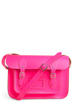 Cambridge Satchel Upwardly Mobile Satchel in Neon Pink - 13""
