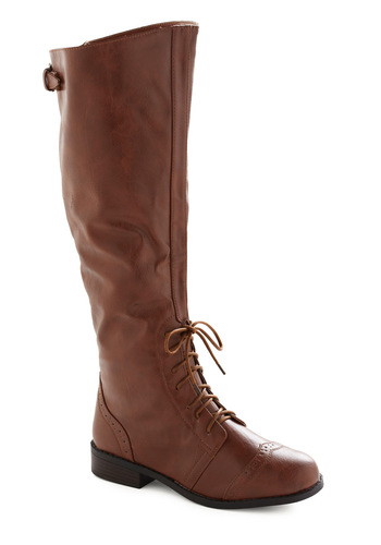 Chocolate Run Boot - Brown, Solid, Work, Casual, Fall, Winter