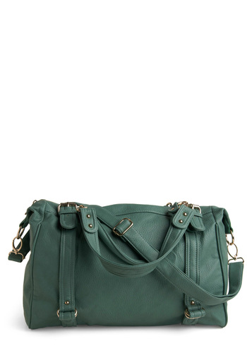 Eucalyptus and Me Bag - Green, Solid, Buckles