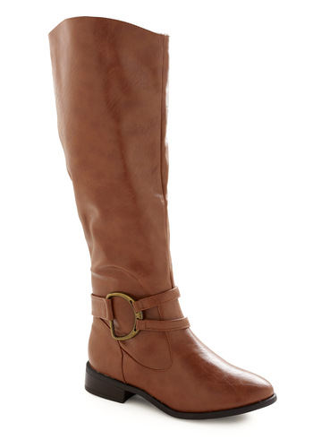 You're Riding Knee High Boot - Solid, Brown