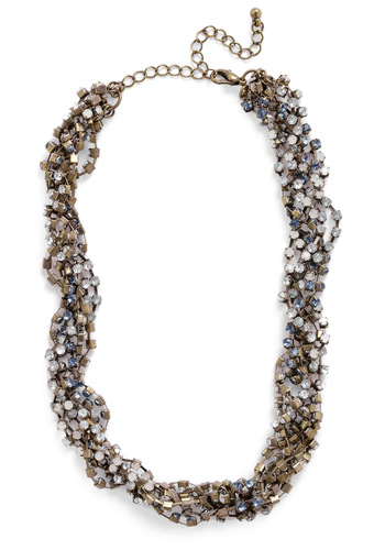 Intertwine and Shine Necklace - Bronze, Blue