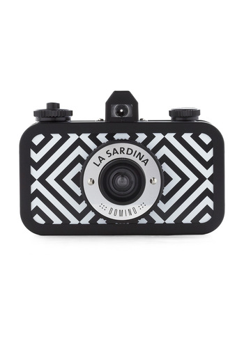 La Sardina Lomography Camera in Domino by Lomography - Black, White, Print, Nautical