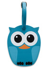 Whos Hoot Luggage Tag by Kikkerland - Blue, Summer, Fall, Travel