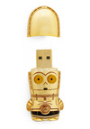 Store Trooper USB Flash Drive in C-3PO - Gold, Travel