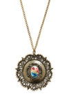 Hall of Frames Necklace - Gold, Multi, Party, Vintage Inspired, 20s, 30s, 40s