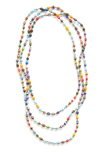 Beneath the Rainbow Necklace - Multi, Red, Yellow, Green, Blue, Beads, Handmade & DIY, Boho