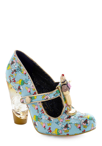 Sundae Best Heel by Irregular Choice - Multi, Novelty Print, Party, Work, Spring, Summer