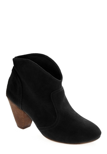 Rodeo So Refined Bootie in Black - Black, Solid, Fall, Boho