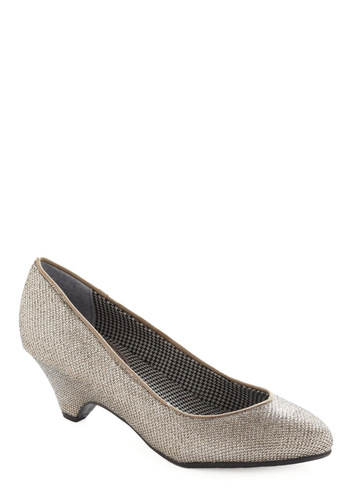 A Night to Remember Heel in Silver by BC Shoes - Silver, Solid, Wedding, Party, Fall, Winter, 80s