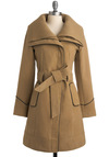 Love for the Midwest Coat - Tan, Solid, Long Sleeve, Work, Fall, Winter, Long
