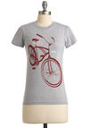 Cruisin' Together Tee - Grey, Red, Short Sleeves, Casual, Summer, Mid-length, Crew