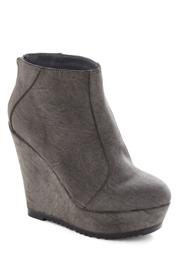 Stone's Throw Bootie - Grey, Solid, Wedge