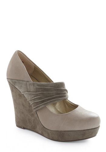 Typewriter Wedge by Seychelles - Brown, Cream, Grey, Work, Fall, Wedge