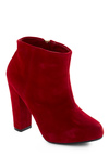 Poinsettia of No Return Bootie - Red, Solid, Party, Fall, Winter