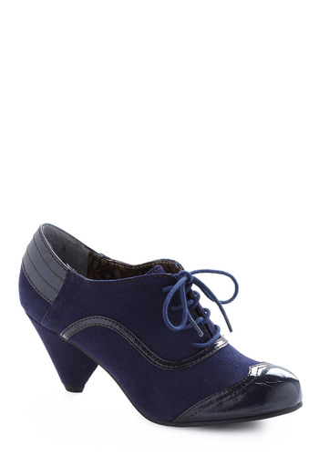 Legato by L'Erdre Heel by BC Shoes - Blue, Solid, Party, Work, Fall, Winter, Vintage Inspired, 20s, 30s, 40s, Nautical