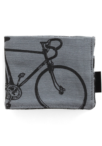 My Treat Wallet in Life Cycles - Grey, Black, Novelty Print