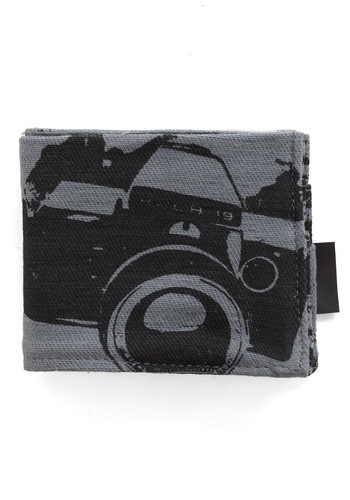 My Treat Wallet in Please Pose by FluffyCo - Grey, Black, Novelty Print