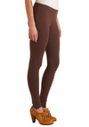 More Mocha Please Leggings - Brown, Solid, Exposed zipper, Casual, Fall, Winter, Knitted, Mid-length