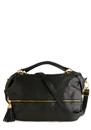 It'll Fit Bag - Black, Tassels, Casual, Faux Leather