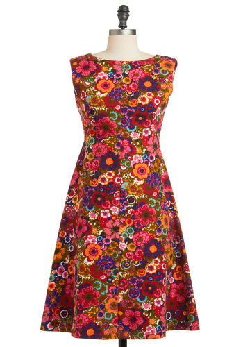 Vintage Conversation Tropic Dress