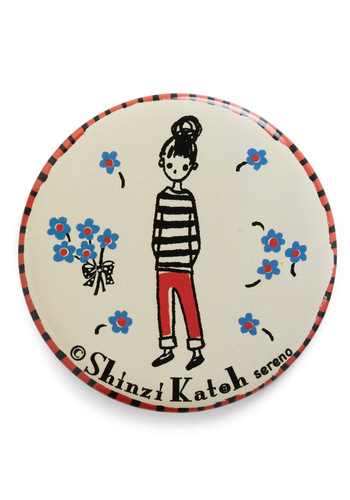 Seine My Regards Compact Mirror by Shinzi Katoh - White, Multi, Red, Blue, Black