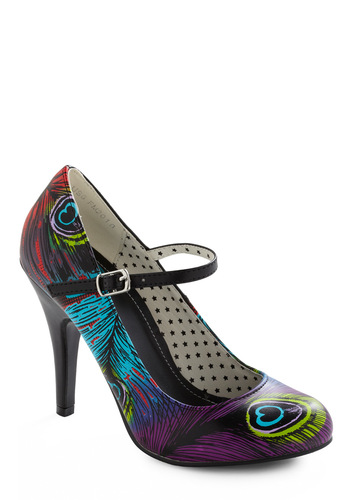 Wing and a Flair Heel - Black, Multi, Red, Green, Blue, Purple, Party, Girls Night Out, Mary Jane, High, Best Seller