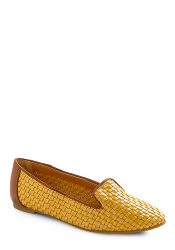 Basket in the Beauty Flat - Yellow, Brown, Woven, Casual, Spring, Fall