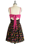 All A-grow Dress - Multi, Pink, Floral, Party, A-line, Spaghetti Straps, Spring, Summer, Mid-length