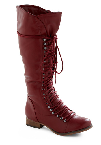 Follow the Cedar Boot in Red - Red, Solid, Casual, Fall, Winter
