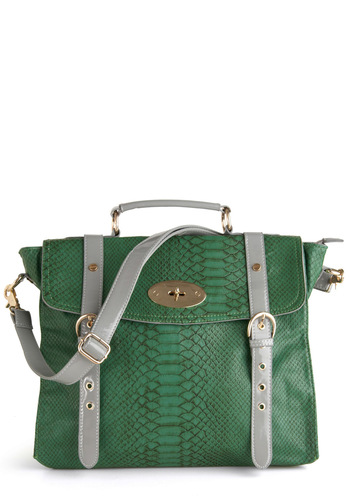 Accessories Editrix Bag - Green, Grey, Buckles, Work