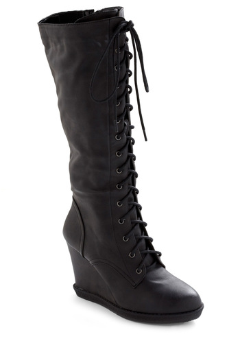 Front Row Center Boot - Black, Solid, Casual, Winter