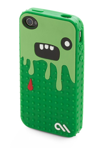 So Cute It's Scary iPhone Case - Green, Red, Black, White, Novelty Print, Quirky