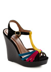 Fiesta on the Go Wedge - Black, Yellow, Blue, Pink, Party, Casual, Summer, Wedge