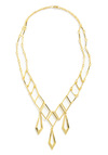Draping Diamonds Necklace - Gold, Party