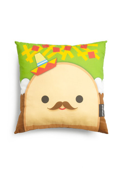 Fare and Square Pillow in Taco