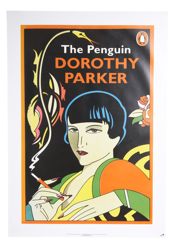 Illustrated Abode Poster in Dorothy Parker - Black, Multi, Novelty Print, Dorm Decor