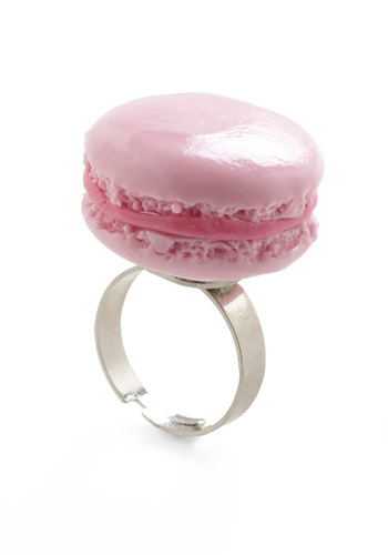Portable Patisserie Ring by And Mary - Pink, Silver