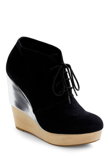 City Sidewalks Bootie - Black, Tan / Cream, Silver, Party, Fall, Winter